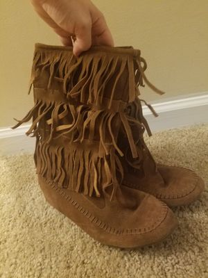 Womens fringe boots for Sale in Greenville, SC