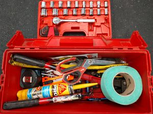 Plano Tool Box Full Of Assorted Tools & Supplies for Sale in Milton, WA
