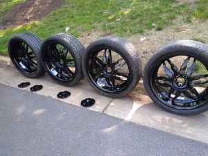 22 rims good tires 5 lugs universal. Fords camaro Toyota charger 300 for Sale in Manassas, VA