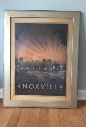 Framed Knoxville Poster with awesome detail for Sale in Knoxville, TN