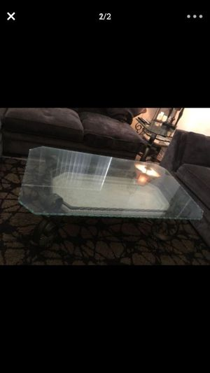Set of 4 glass tables 1 coffee 2 side and one console table all for 300 for Sale in Miramar, FL