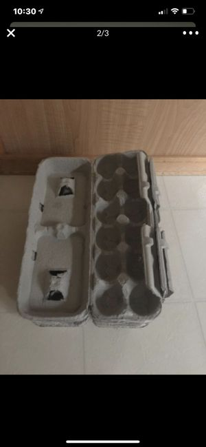 I'm selling or trading 100 egg cartons for 4 dozen eggs. for Sale in Kent, WA