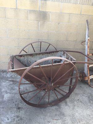 Antique wheel barrow steel for Sale in Westminster, CA