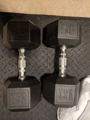 A pair of 45lb dumbbells for Sale in Frederick, MD