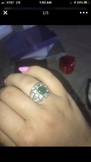 Gold and green costume jewellery ring for Sale in Brentwood, CA