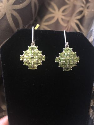 New Peridot & sterling silver earrings for Sale in West Richland, WA