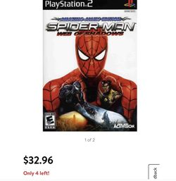 Preowned PS2 Game, Spider-Man: Web of Shadows for Sale in San Antonio,  TX