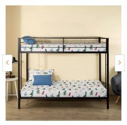 New Zinus Patti Twin Over Twin Metal Bunk Bed for Sale in Fall City,  WA