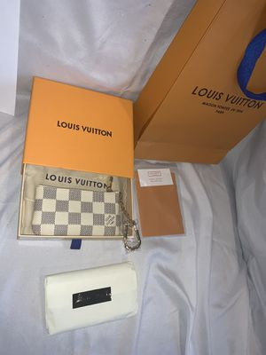 Brand New Authentic Louis Vuitton Azur Damier Key Pouch (NOW available for Shipment Worldwide & Pickup in NY) for Sale in Lawrence, NY