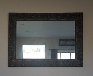 Large black and gold vintage mirror for Sale in Oakdale, CA