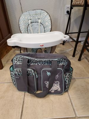 Booster Seat & Diaper Bag for Sale in Port Richey, FL