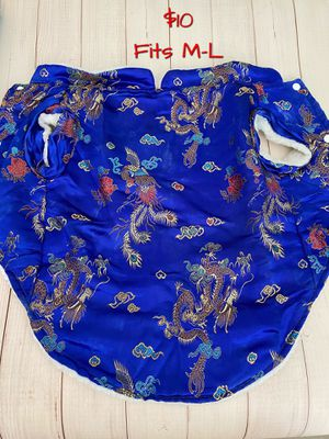 Dog Asian silk jacket Halloween for Sale in Ashburn, VA