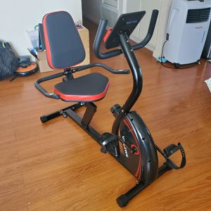 Vanswe Recumbent Exercise Bike 16 Levels Magnetic Tension Resistance 380 lbs. Stationary Bike with Adjustable Seat, Transport Wheels for Sale in City of Industry, CA