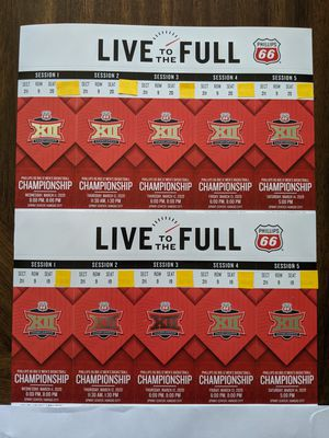All Session Tickets for Big 12 Tournament for Sale in Lawrence, KS