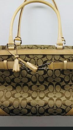 """Coach Signature Brown Bag w/ Leather Handle Purse 9""""X4.5"""" for Sale in Laurel,  MD"""