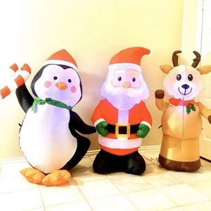 Christmas inflatable holiday decoration indoor outdoor Santa penguin for Sale in Laurel, MD