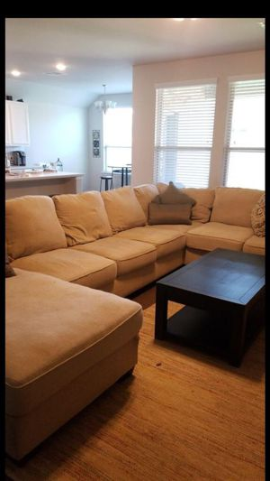 Light beige sectional couch for Sale in Houston, TX