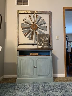 Rustic farmhouse tv stand/changing table/coffee station for Sale in Beavercreek, OH