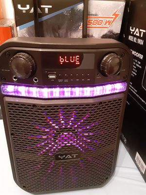 10 inch WOOFER bluetooth FM auxiliary USB tf CARD wireless microphone karaoke system loud $60. NEW for Sale in Rialto, CA