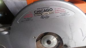 """Chicago 12?""""slide meter saw with lazor for Sale in Modesto, CA"""