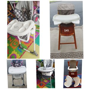 Highchairs! Eddie Bauer, Chicco, Baby Trend, - located in Branford for Sale in Branford, CT