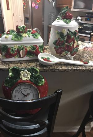 Strawberry kitchen set for Sale in Bartow, FL