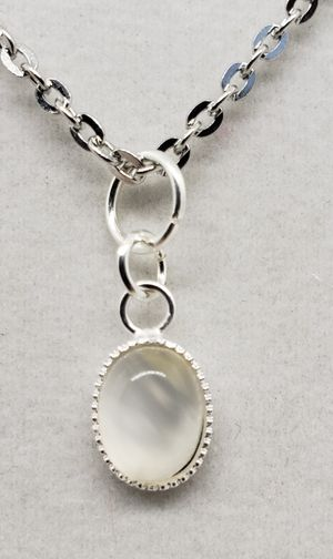 Natural Oval Moonstone Silver Necklace for Sale in Justin, TX