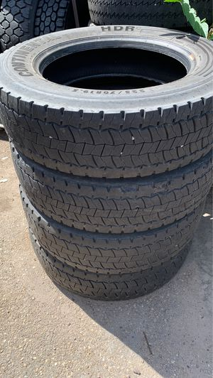 """15"""" tires 19.5"""" tires couple small trailer tires. Cheap $ for Sale in Denver, CO"""