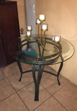 2 Steel end tables w/ Glass top for Sale in New York, NY