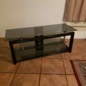 Glass TV, Entertainment Center Stand for Sale in Fresno, CA