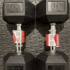 Rubber Dumbbells 30 lb Pair. Brand New for Sale in Miami, FL