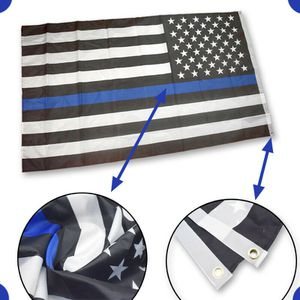 Thin Blue Line American Flag 3x5 ft US Black & White Police Policemen Support (bluelineflag-USA) for Sale in Riverside, CA
