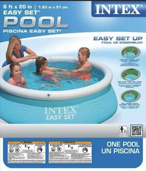 Intex 6ft x 20in Easy Set Inflatable Swimming Pool for Sale in McDonald, PA
