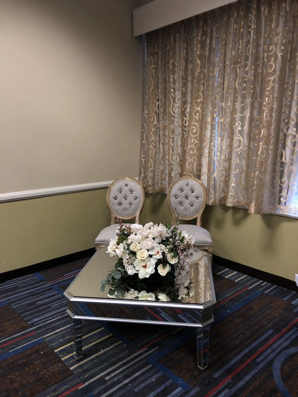 Mirrored silver coffee table
