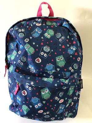 Large girl's blue Owl Backpack. New with tags!! for Sale in Fontana, CA