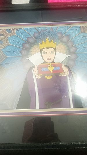 Disney Snow White Queen cel, hand-painted for Sale in Ceres, CA