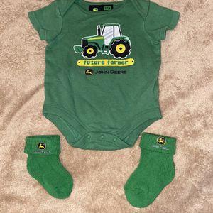 John Deere Baby Sleeper One Piece & Socks for Sale in Lakeland, FL
