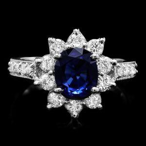 2.5 carat Sapphire 1 carat diamond 14k gold wedding engagement ring for Sale in San Diego, CA