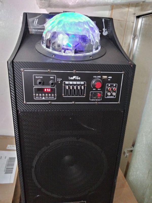 Bosina befre radio usbni Bluetooth con entrada de guitarra i micrófono chingon sonido recargable