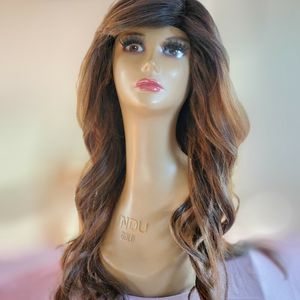 Brown With Blonde Bio Highlights 24 Inch Wig for Sale in Midland, TX