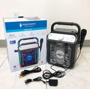 New $25 Portable Karaoke Bluetooth Speaker System Microphone Flashing LED Lights for Sale in El Monte, CA