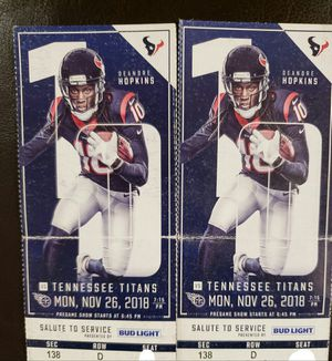 Texans Tickets for Sale in Houston, TX