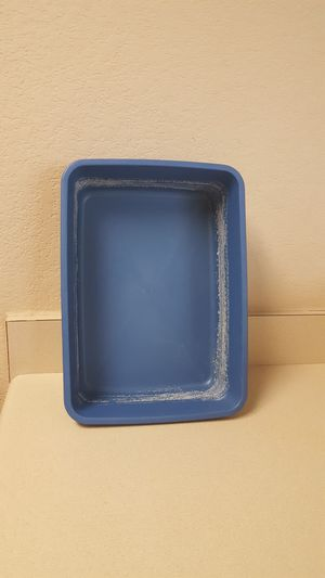 "Blue Kitten Litter Box (14"" x 10"" x 3.5"") - FIRM PRICE for Sale in Leander, TX"