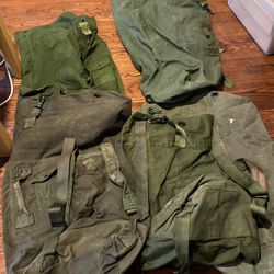 5 Pc Vintage Military Top Load Duffle Bag for Sale in Gig Harbor,  WA