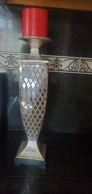 Nice mosaic metal candle holder or home decor for Sale in Modesto, CA