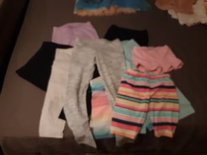 Girl clothes. 3 7/8 leggings. 3 7/8 capri. 3 7/8 Shorts. 1 7 flower jegging. 2 dresses. 1 7/8 Jojo shits, 1 7/8 Childrens place shirt & 1 long sleev for Sale in San Diego, CA