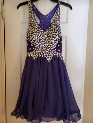 Beautiful beaded purple homecoming dress! for Sale in Wheaton, IL
