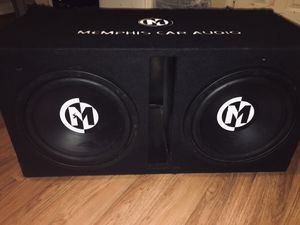 12 inch subs with amp for Sale in Houston, TX