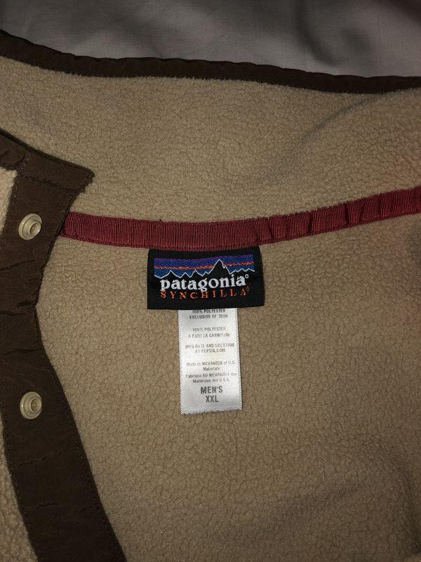 Patagonia Synchilla Men's XXL brown pullover fleece