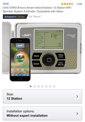 Orbit 57950 B-hyve Smart Indoor/Outdoor 12-Station WiFi Sprinkler System Controller, Compatible with Alexa for Sale in Los Angeles, CA